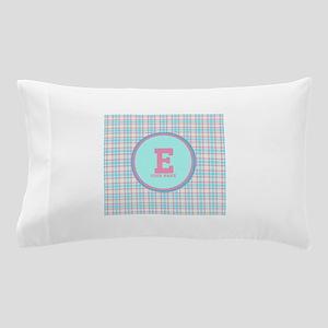 Monogram Pastel Plaid Pillow Case