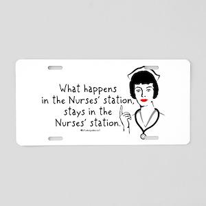 What Happens in the Nurses Station Aluminum Licens