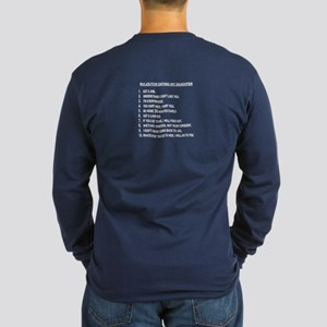 Rules For Dating My Daughter Long Sleeve T-Shirt