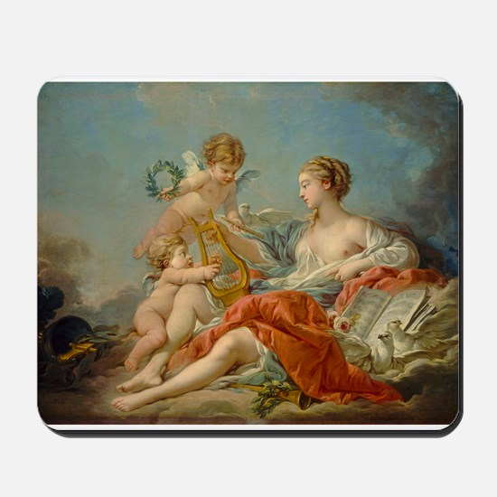 Francois Boucher - Allegory of Music Mousepad