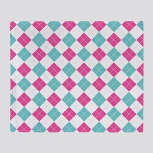 Colorful Argyle Pattern Throw Blanket
