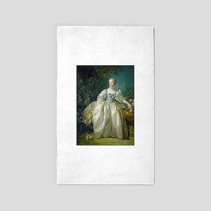 Francois Boucher - Madame Bergeret 3'x5' Area Rug