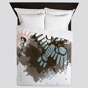 Kokopelli and the Raven Queen Duvet