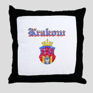 Krakow City designs Throw Pillow