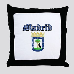 Madrid City designs Throw Pillow