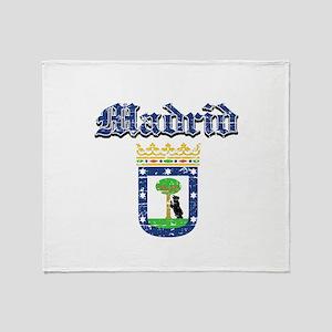 Madrid City designs Throw Blanket