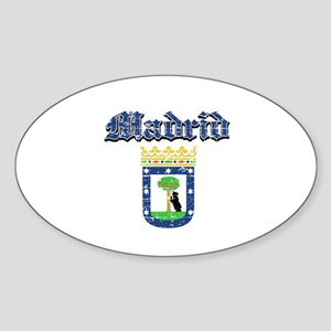 Madrid City designs Sticker (Oval)