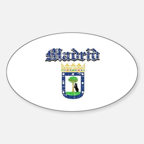 Madrid City designs Sticker (Oval)