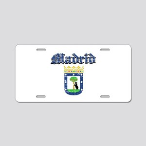 Madrid City designs Aluminum License Plate