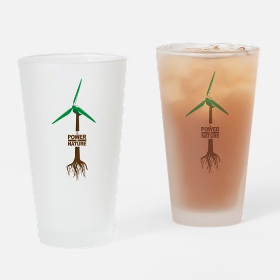 Roots of Green Energy Drinking Glass