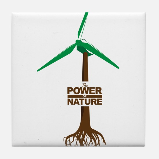 Roots of Green Energy Tile Coaster