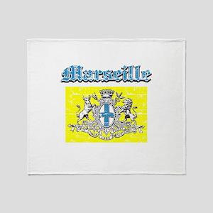 Marseille City designs Throw Blanket