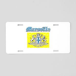 Marseille City designs Aluminum License Plate