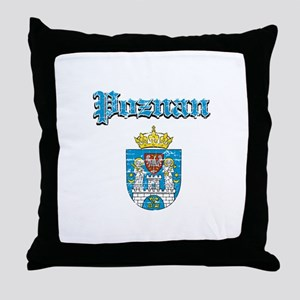 Poznan City designs Throw Pillow