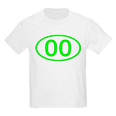 Number 00 Oval Kids T-Shirt