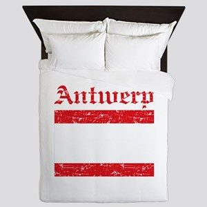 Antwerp flag designs Queen Duvet