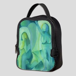 Reflections in Blue III Cyan Neoprene Lunch Bag