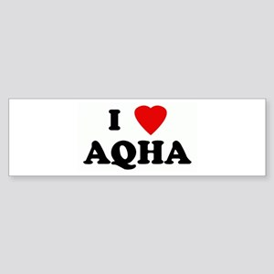 I Love AQHA Bumper Sticker