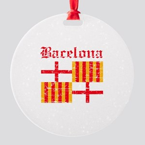Bacelona flag designs Round Ornament