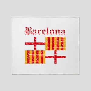 Bacelona flag designs Throw Blanket