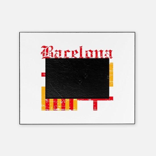 Bacelona flag designs Picture Frame