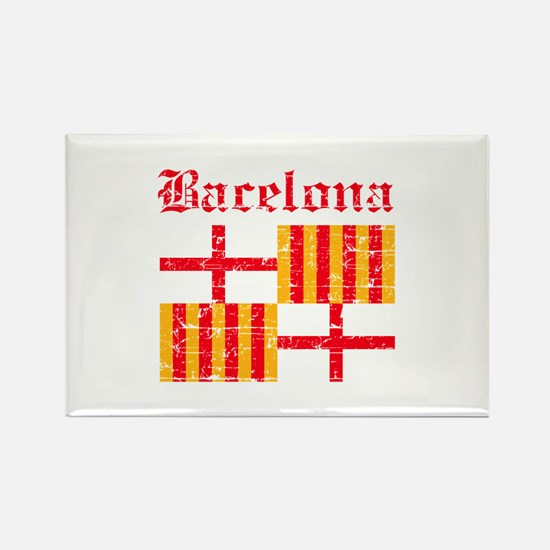 Bacelona flag designs Rectangle Magnet