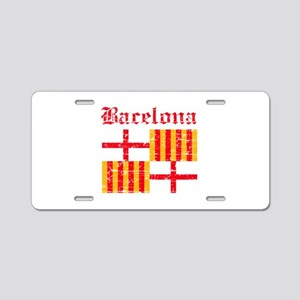 Bacelona flag designs Aluminum License Plate