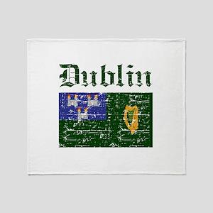 Dublin flag designs Throw Blanket