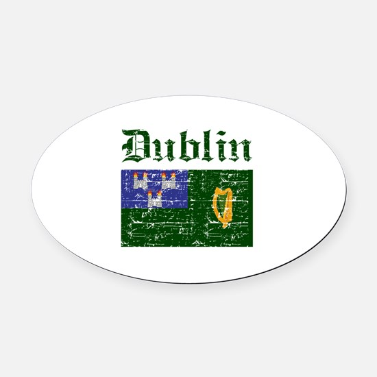 Dublin flag designs Oval Car Magnet