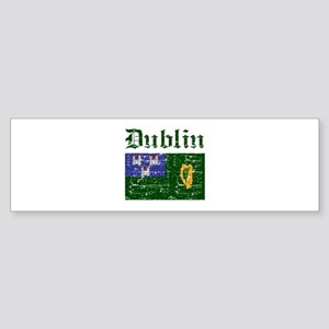 Dublin flag designs Sticker (Bumper)