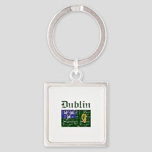 Dublin flag designs Square Keychain