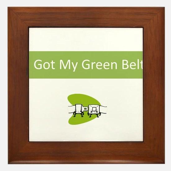I Got my Green Belt Framed Tile