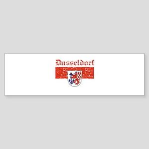 Dusseldorf flag designs Sticker (Bumper)