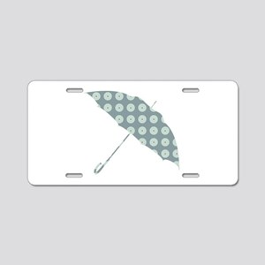 umbrella Aluminum License Plate