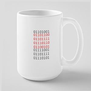 """Say """"I Love You"""" in binary code Large Mug"""