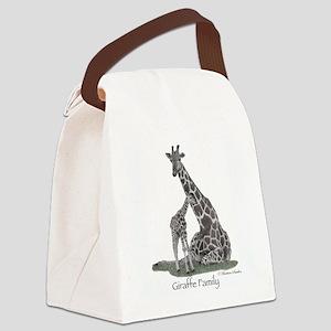 Giraffe Family Canvas Lunch Bag