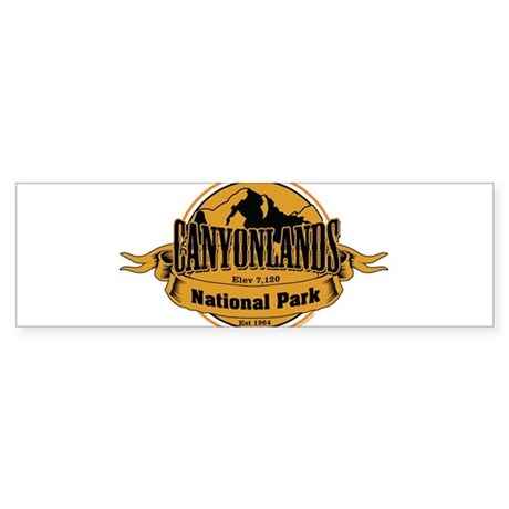 canyonlands 3 Bumper Sticker