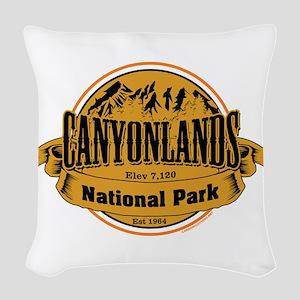 canyonlands 2 Woven Throw Pillow