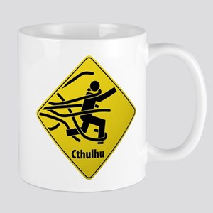 Caution: Cthulhu Crossing Mug