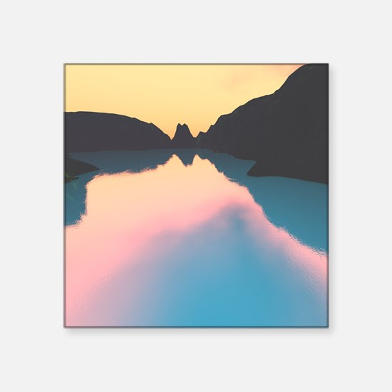 Indonesian crater lake Sticker