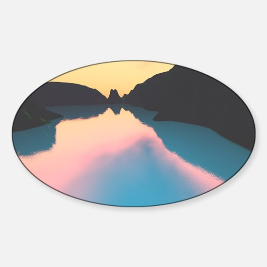 Indonesian crater lake Decal