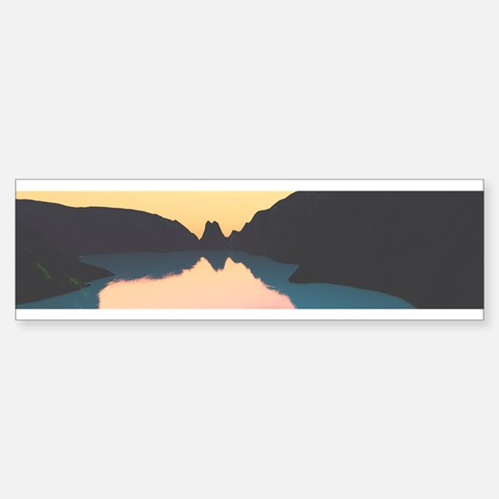 Indonesian crater lake Bumper Bumper Bumper Sticker
