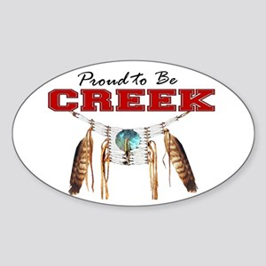 Proud to be Creek Sticker (Oval)