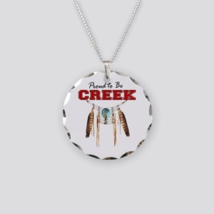 Proud to be Creek Necklace Circle Charm