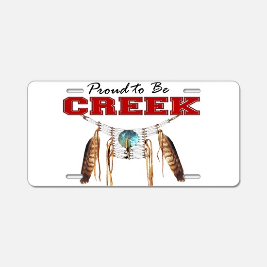Proud to be Creek Aluminum License Plate