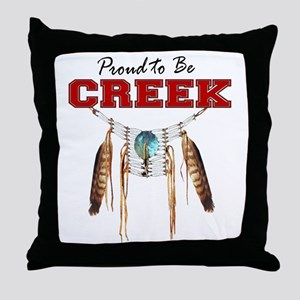 Proud to be Creek Throw Pillow