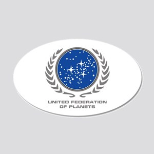 United Federation of Planets 20x12 Oval Wall Decal