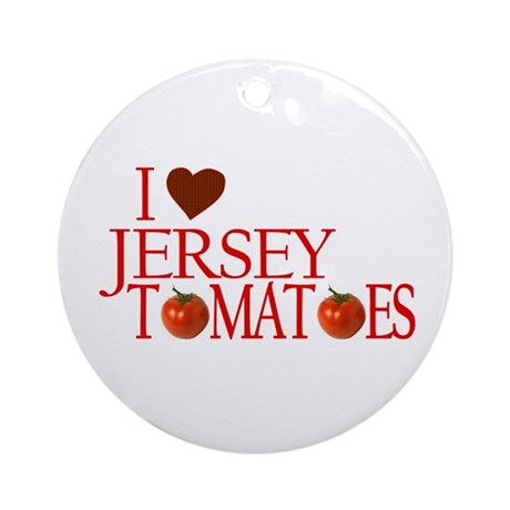 I Love Jersey Tomatoes Ornament (Round)