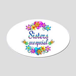 Sisters are Special 20x12 Oval Wall Decal