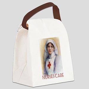 Nurses Care Canvas Lunch Bag